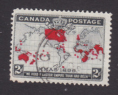 Canada, Scott #85, Used, Map, Issued 1898 - 1851-1902 Reign Of Victoria