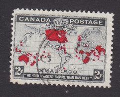 Canada, Scott #85, Used, Map, Issued 1898 - 1851-1902 Reinado De Victoria