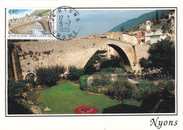 Carte-Maximum FRANCE N° Yvert 2956 (PONT De NYONS) Obl Ord Nyons (Ed SL) - 1990-99