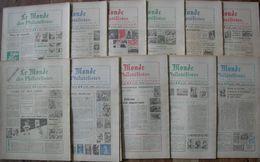 REVUE LE MONDE DES PHILATELISTES Année 1978 Complète (n° 305 à 315). - Magazines