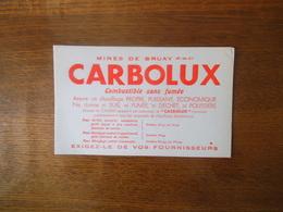 CARBOLUX MINES DE BRUAY PAS DE CALAIS COMBUSTIBLE SANS FUMEE - Buvards, Protège-cahiers Illustrés