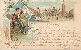 ITALIE  )) SALUTI DA VENEZIA   ILLUSTRATION    PIAZZA S MARCO - Vicenza