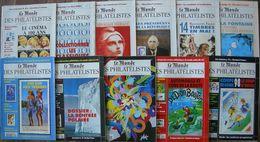 REVUE LE MONDE DES PHILATELISTES Année 1995 Complète (n° 492 à 502). - Magazines