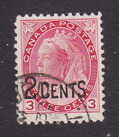 Canada, Scott #88, Used, Victoria Surcharged, Issued 1899 - 1851-1902 Reign Of Victoria