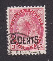 Canada, Scott #88, Used, Victoria Surcharged, Issued 1899 - Gebruikt