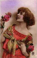 Lot De 3 Cartes - Portraits De Belles Femmes - - Cartoline