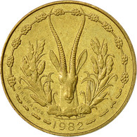 West African States, 5 Francs, 1982, SUP, Aluminum-Nickel-Bronze, KM:2a - Ivory Coast