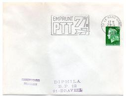 SARTHE - Dépt N° 72 = LE MANS GARE  1969 = FLAMME Codée SUPERBE = SECAP  ' EMPRUNT 7% PTT ' - Postmark Collection (Covers)