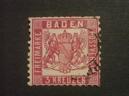 "ALLEMAGNE  BADE  ( O )  De  1862 / 1864    ""   Dentelé  10    ""   N° 17 - Bade"