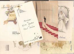 Lot De 19 MENUS Essentiellement De MARIAGE - De 1947 à 1993 - MENU - Intéressant ! - Menus