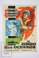 1955 Cinema/ Movie Advertising Leaflet - The Sea Chase - John Wayne,  Lana Turner,  David Farrar - Cinema Advertisement