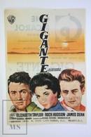 1954 Cinema/ Movie Advertising Leaflet - Giant - Elizabeth Taylor,  Rock Hudson,  James Dean,  Carroll Baker - Cinema Advertisement
