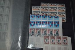 FRANCE  Yvert N° 1461, 1477, 1498 Et 1520  Neufs** En Bande De 4,5 Ou Bloc De 10 Et 15 - Unused Stamps