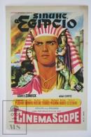 1954 Cinema/ Movie Advertising Leaflet - The Egyptian - Jean Simmons,  Victor Mature,  Edmund Purdom,  Gene Tierney - Cinema Advertisement