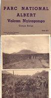 Map Carnet Parc National Albert - Volcan Nyiragongo - Congo Belge - 10 P. - Cartes Postales