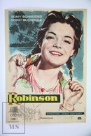 1954 Cinema/ Movie Advertising Leaflet - Robinson Soll Nicht Sterben -  Romy Schneider, Horst Buchholz, Erich Ponto - Cinema Advertisement