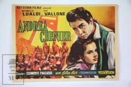 1955 Cinema/ Movie Advertising Leaflet - Andrea Chénier - Raf Vallone,  Antonella Lualdi,  Michael Auclair - Cinema Advertisement