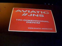 Autocollant  Publicite Vetement Jeans   Aviatic Jns Tri  Dimentional  DENIM Usa - Stickers