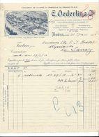 F92 - Fonderie De Cuivre E. Oederlin Cie Baden Facture 1916 - Suisse