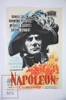 1955 Cinema/ Movie Advertising Leaflet - Napoléon - Raymond Pellegrin,  Daniel Gélin,  Orson Welles - Cinema Advertisement