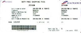 TICKET  SEAFRANCE - Billets D'embarquement De Bateau
