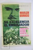 1968 Cinema/ Movie Advertising Leaflet - The Ugly American - Marlon Brando,  Pat Hingle,  Eiji Okada,  Sandra Church - Cinema Advertisement