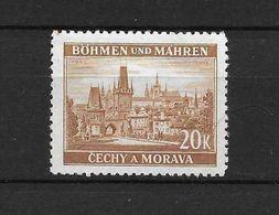 LOTE 1661  ///  BOHEMIA Y MORAVIA   YVERT Nº: 37 NSG - Bohemia Y Moravia