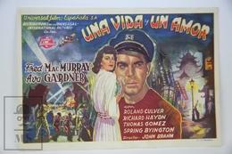 1947 Cinema/ Movie Advertising Leaflet - Singapore - Fred MacMurray,  Ava Gardner,  Roland Culver - Cinema Advertisement