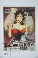1953 Cinema/ Movie Advertising Leaflet - Pane, Amore E Fantasia - Vittorio De Sica,  Gina Lollobrigida,  Roberto Risso - Cinema Advertisement