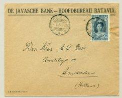 Nederlands Indië - 1924 - 20ct Jubileumzegel Op Business Cover Van Batavia Naar Amsterdam / Nederland - Netherlands Indies