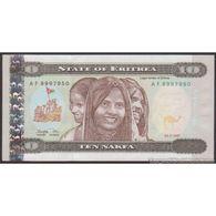 TWN - ERITREA 3 - 10 Nakfa 24.5.1997 Prefix AF UNC - Erythrée