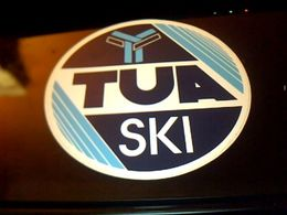 Autocollant Ancien Publicite Fabricant De Skis  TUA  Origine Italie - Stickers