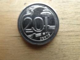 Singapour  20  Cents  2014  Km !!! - Singapore