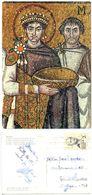 Italy 1963 Postcard Ravenna - S. Vitalis, Leuven Belgium To U.S., Belgian Stamp - Ancient World