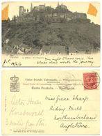 Luxembourg 1906 Postcard Vianden - Le Chateau - Die Burgruine, To Riding Hill England - Vianden