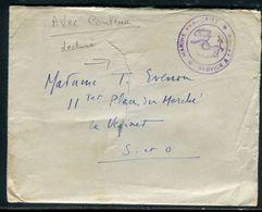 Enveloppe En FM ( Avec Contenu ) Pour Le Vesinet En 1939 , Cachet Ancre De Marine - Ref F217 - Guerre De 1939-45
