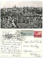 Luxembourg 1954 RPPC General View, To U.S., Scott C11 Air Post - Luxemburg - Town