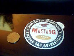 Autocollant Ancien Publicite Vetements Jeans Mustang Usa - Stickers