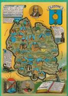 48 -  Plan Du Département De La Lozère - Carte Géographique (blason) - Editeur: Apa Poux N°48 - France