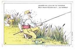 Carte Postale En Franchise Militaire Antipaludéenne Armée Orient - 1914 1918 - Auprès De L'eau Ne Te Tiendras - Marcophilie (Lettres)