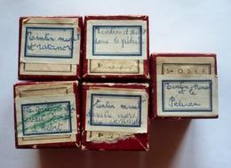 Lot De 4 Films Fixes - TINTIN- MINET Et Les Contes De PERRETTE ( Voir Détails Et Scans) - 35mm -16mm - 9,5+8+S8mm Film Rolls