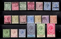 Gibraltar Belle Petite Collection D'anciens 1886/1932. Bonnes Valeurs. B/TB. A Saisir! - Gibraltar