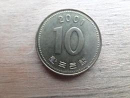 Koree Du Sud  10 Won  2001  Km 33 - Corée Du Sud