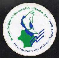 PECHE FEDERATION DE LA MEUSE - Autocollant  - Ref: 850 - Stickers