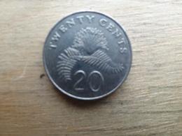 Singapour  20  Cents  1986  Km  52 - Singapour