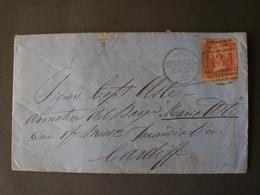 GREAT BRITAIN BRITISH ENGLAND Grande-Bretagne 1872 BRISTOL TO CARDIF TABLE N. 140 M&G - 1840-1901 (Victoria)