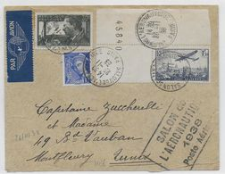 1939 - ENVELOPPE Par AVION Du SALON AERONAUTIQUE De PARIS => TUNISIE - Poste Aérienne