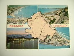 PESCARA    Carte Geographique   CARTINA GEOGRAFICA   MAPPA MAPS   VIAGGIATA    COME DA FOTO  PIEGA ANGOLO - Carte Geografiche