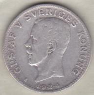 Sweden . 1 Krona 1924. Gustaf V. Argent. KM# 786.1 - Suède