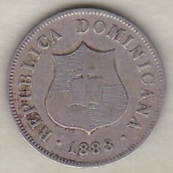 Republique Dominicaine . 2 ½ Centavos 1888 A Paris , KM# 7.3 - Dominicana